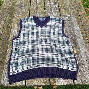 Polo Ralph Lauren xxl plaid Sweater Vest
